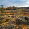 Hiking out of the boulders after a chilly late fall day. <br> <br> Nov 2010