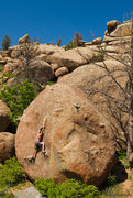 Rock Climbing Photo: Chris attempting Erotic States of Mind on a beauti...
