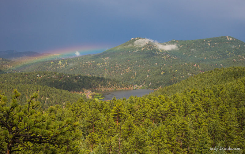 Rock Climbing Photo: Rainbow peepin' from the Work and Play area.   We ...