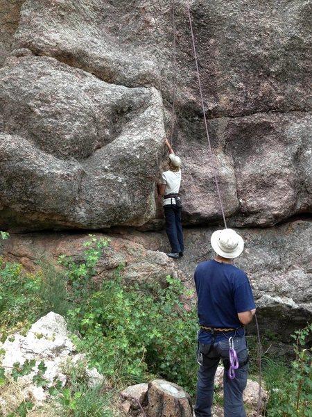 Rock Climbing Photo: Blackish Blobs, start.