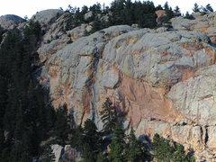 Rock Climbing Photo: Close-up of South Face Arthur's main.