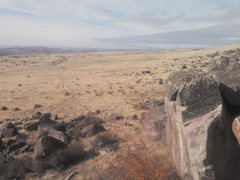 View from the top of one of the boulders.