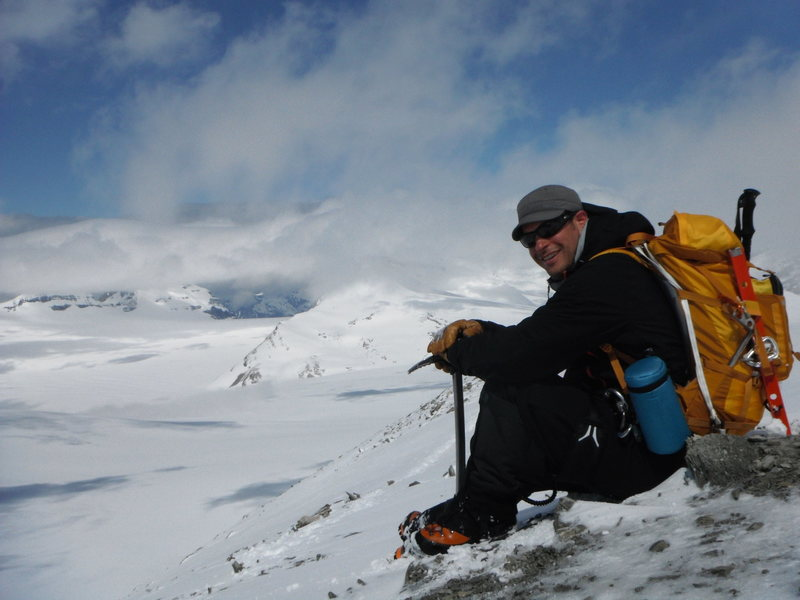 Rock Climbing Photo: Summit of Mt. Olive Wapta Icefields, Banff, Canada...
