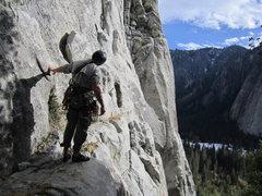 Rock Climbing Photo: Little John, El Cap, start