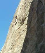 Rock Climbing Photo: Chad Parker leading Velcro