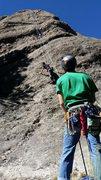 """Rock Climbing Photo: Jami's first outdoor climb """"Funbags"""" (5...."""