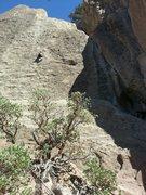 Rock Climbing Photo: Abby Stull Sawyer following Velcro 5.9+