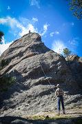 Rock Climbing Photo: The rope roughly follows Escape.