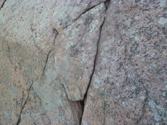 Rock Climbing Photo: Crack for first available protection.