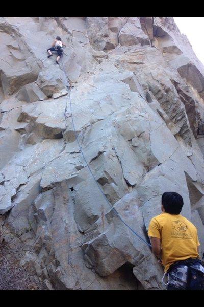 Rock Climbing Photo: Jeff Constine leading Holy Crap