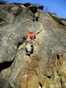 Rock Climbing Photo: Me starting out the first pitch.
