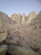 Rock Climbing Photo: Mt. Whitney Solo East Buttress. 8.5 hrs.
