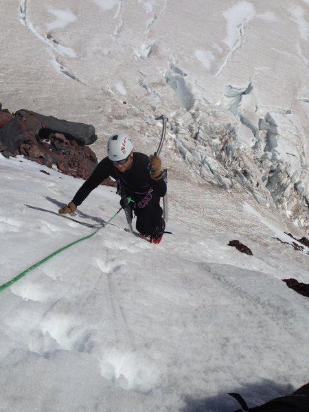 Lead climbing.