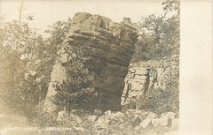1906 Photo Postcard of Leaning Rock