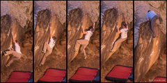 Rock Climbing Photo: Sequence of Mas Mu on a perfect fall day.   Nov 20...