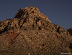 Rock Climbing Photo: Windy Peak at night. Taken after a perfect day of ...