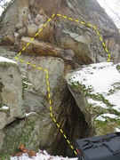 Rock Climbing Photo: Sent this problem after working a different proble...