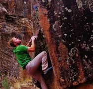 Rock Climbing Photo: Staring down the finisher edge on Miss Miasma.