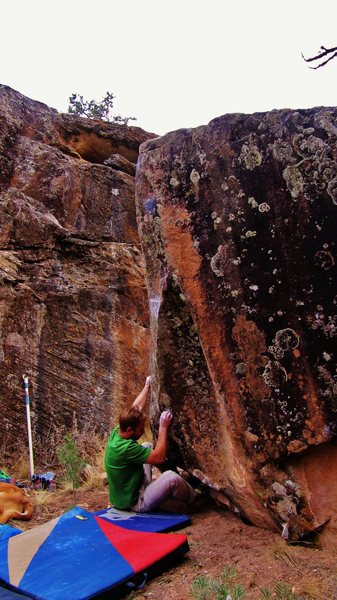 Rock Climbing Photo: Start beta of Miss Miasma.
