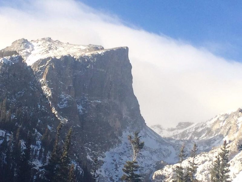 Hallett Peak, 11/21/14.<br> <br> Courtesy of A. Mason.