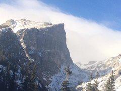 Rock Climbing Photo: Hallett Peak, 11/21/14.  Courtesy of A. Mason.