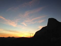 Rock Climbing Photo: The giants are silhouetted by the beautiful sunset...
