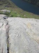 Rock Climbing Photo: Joseffa M follwo P3 of B.B. (as done in 5 pitches)...