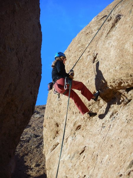 "Rock Climbing Photo: Rappelling over the overhang on ""Endymion.&qu..."