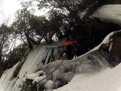 Rock Climbing Photo: Opening Curtain Munising Nov 23rd 2014