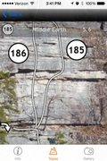 Rock Climbing Photo: Trapps App zoomed screenshot, Middle Earth third p...