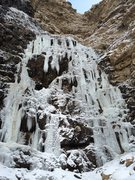 Rock Climbing Photo: Malan's Falls, Ogden, UT, P1, 11/23/2014