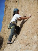 Rock Climbing Photo: Julius making the moves on his 3rd climb on his 1s...