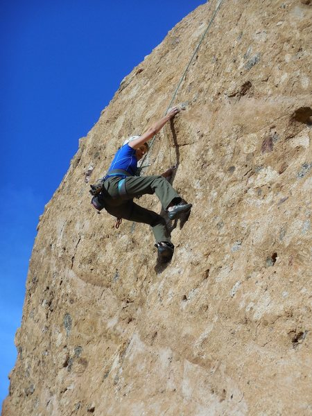 "Rock Climbing Photo: Pulling the crux on ""Amarillo By Morning.&quo..."