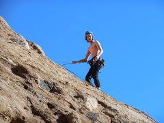 "Rock Climbing Photo: Lowering off of ""Urban Cowboy."""