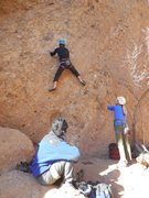 """Rock Climbing Photo: Pulling the opening moves on """"Sophie's Choice..."""