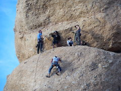 Rock Climbing Photo: Looks like a party on the ledge, south face of The...