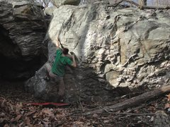 Rock Climbing Photo: Steve on The Portal in The Cove in the Outlying Ar...