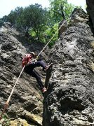Rock Climbing Photo: Rappeling off of Nosey