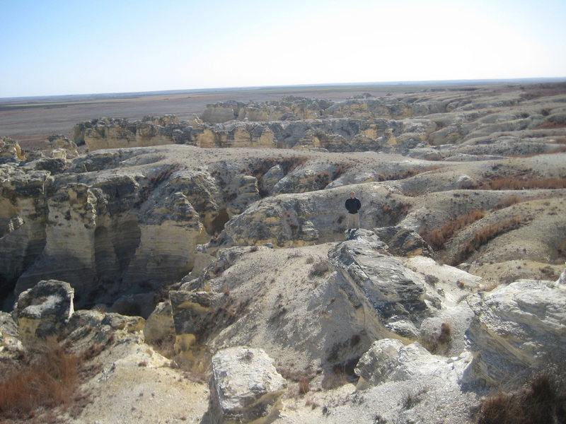 Rock Climbing Photo: Size comparison of the badlands.