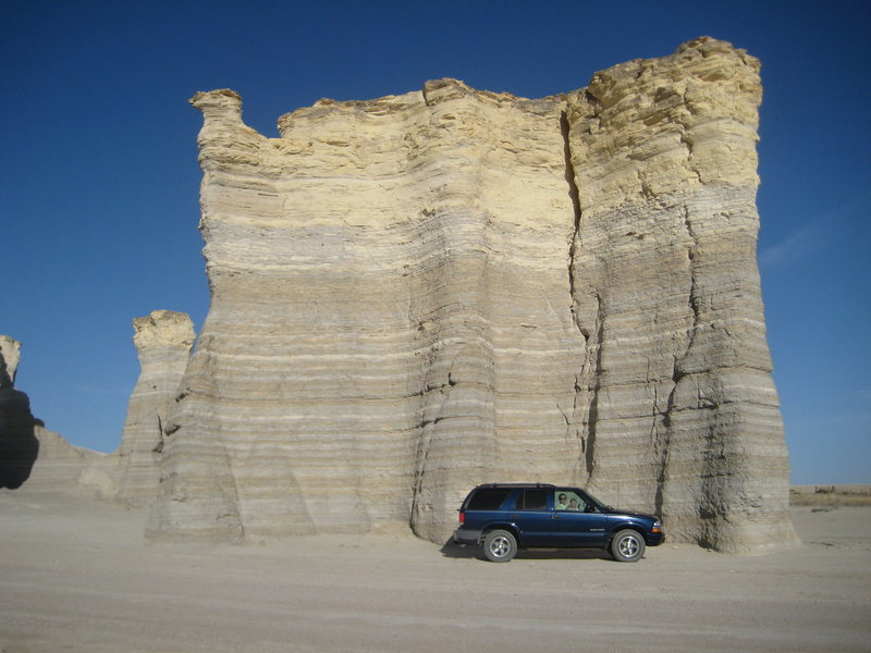 Rock Climbing Photo: Size comparison using my Chevy Blazer.