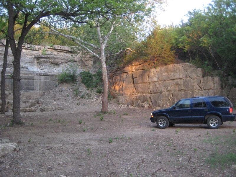 Rock Climbing Photo: Right half of the rock wall.