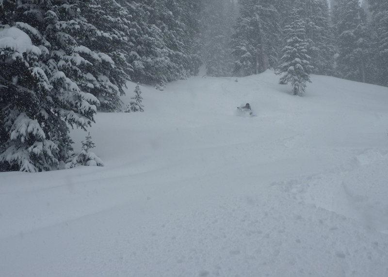 Scott skiing mid November pow on RMP