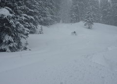 Rock Climbing Photo: Scott skiing mid November pow on RMP