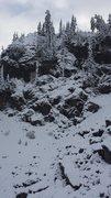 Rock Climbing Photo: Pan Dome Falls