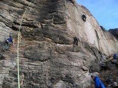Rock Climbing Photo: Climbing by Wenatchee in January.