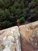 Rock Climbing Photo: Silent line Richard Shore following P2