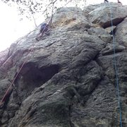 Rock Climbing Photo: Face route on the Northeast Face