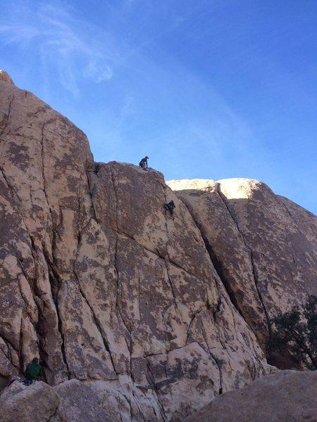 Rock Climbing Photo: Kyle and Jodi enjoying a lap on Smithereens.