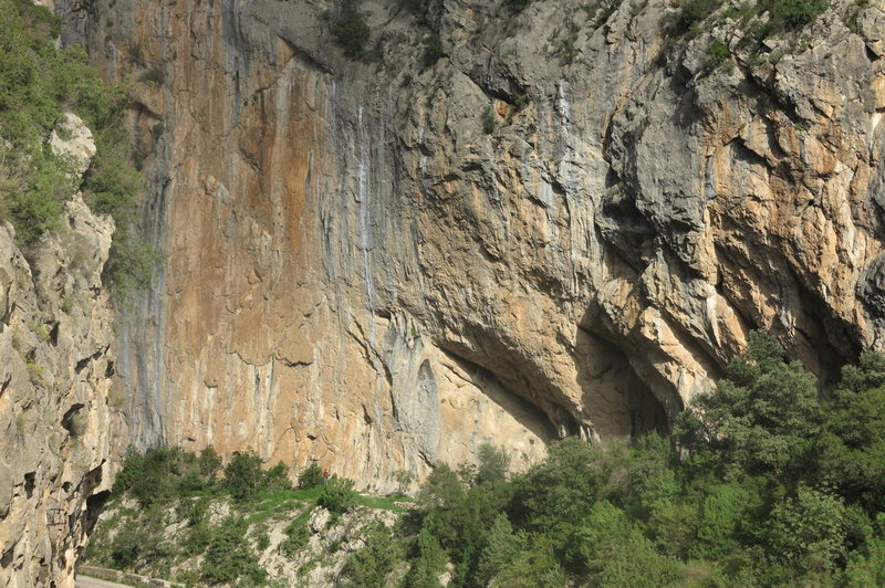 Most of the south end of the crag.