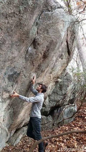 Rock Climbing Photo: V hard
